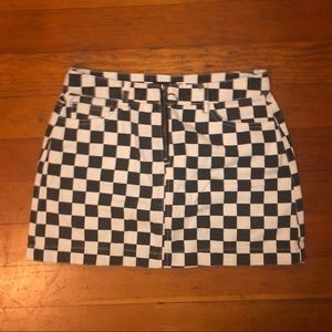 urban checkered skirt